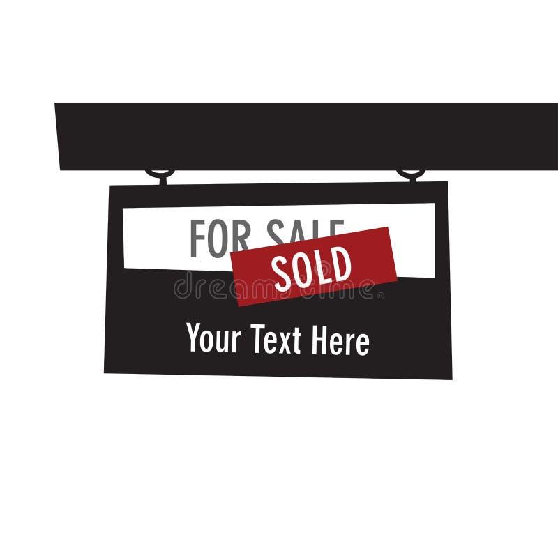 Sprzedająca majątkowa grafika na białym tle dla sprzedaży, obrazy stock