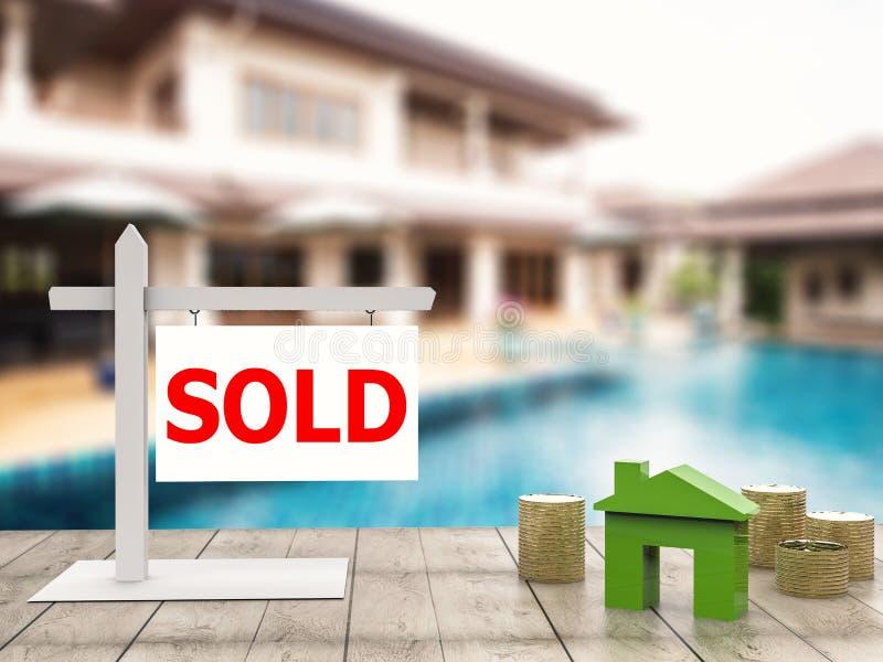 Sprzedający domu znak obrazy royalty free