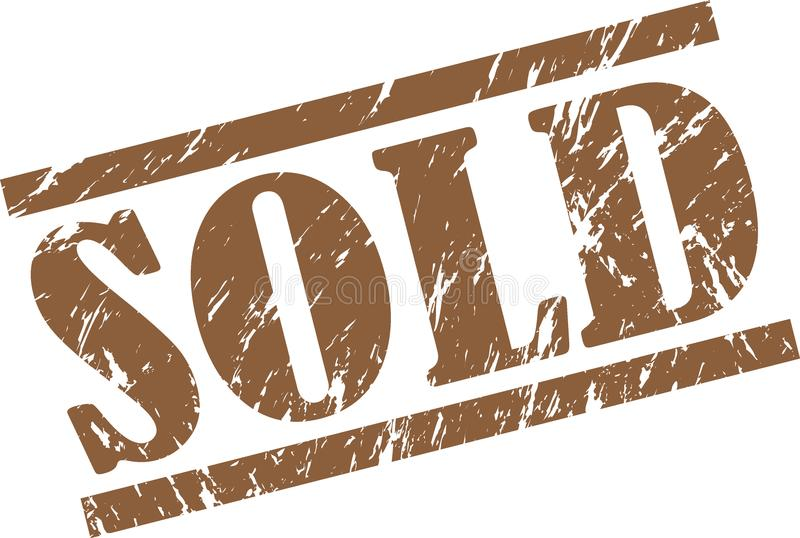 sprzedający znaczek ilustracji