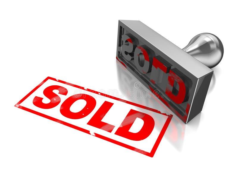 Sprzedający znaczek ilustracja wektor