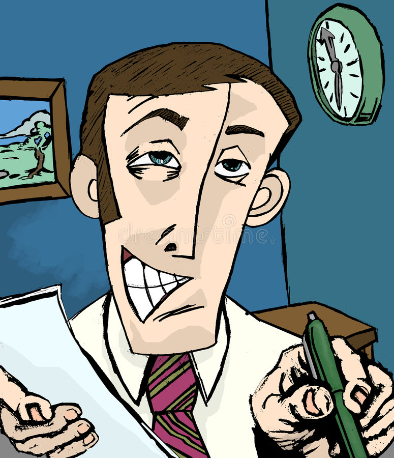 sprzedawca ilustracji