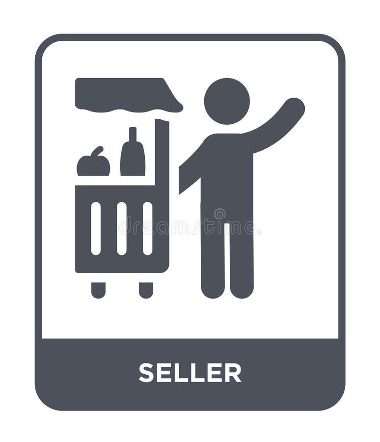 sprzedawca ikona w modnym projekta stylu sprzedawca ikona odizolowywająca na białym tle sprzedawca wektorowej ikony prosty i nowo ilustracja wektor