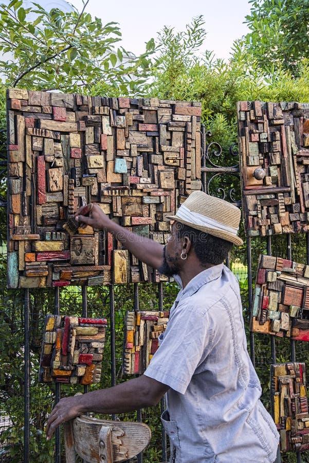 Sprzedawca uliczny sztuka zdjęcie royalty free