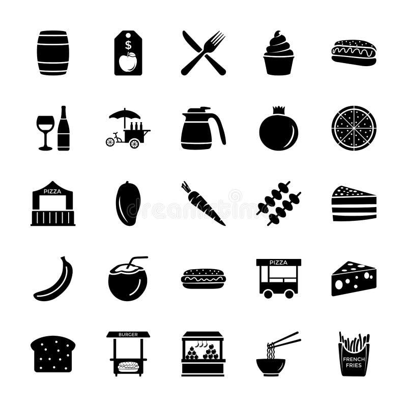 Sprzedawcy lub sprzedawcy Stałe ikony Ustawiać ilustracji