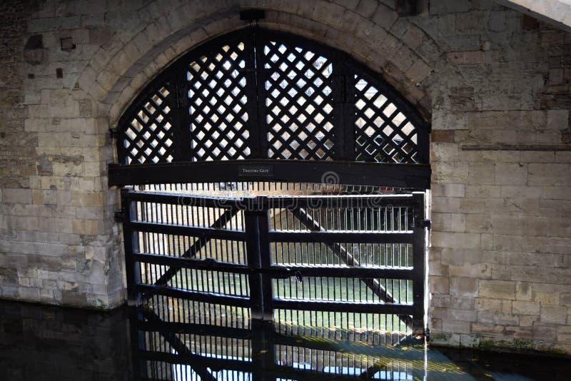 Sprzedawczyka ` s bramy wierza Londyn obrazy stock