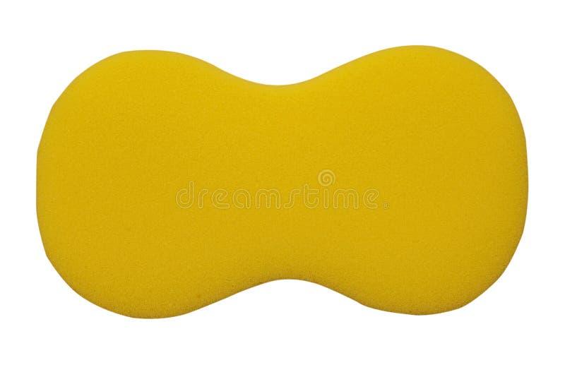 Spugna gialla isolata su bianco fotografie stock libere da diritti