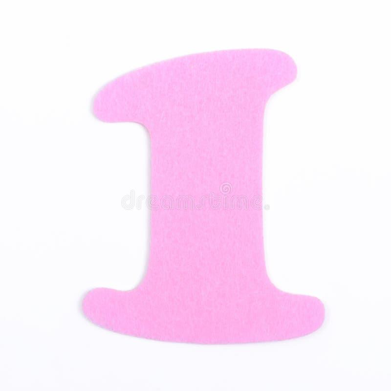 Spugna numero uno della fonte rosa della spugna isolata su fondo bianco fotografia stock libera da diritti