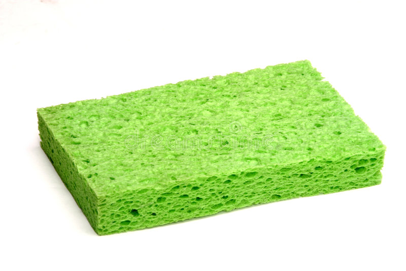 Spugna verde fotografia stock