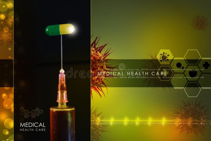 Spuit en geneeskunde royalty-vrije stock fotografie