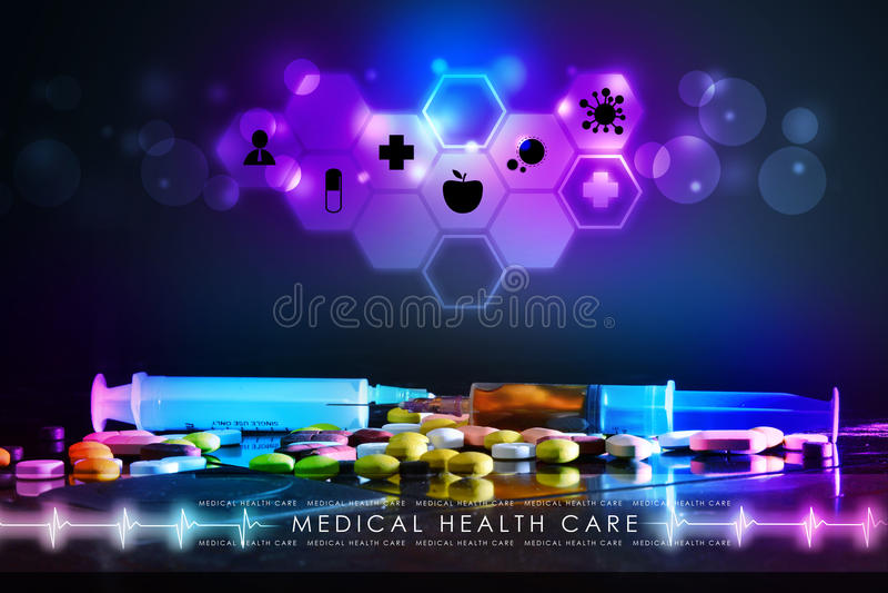 Spuit en geneeskunde royalty-vrije stock foto