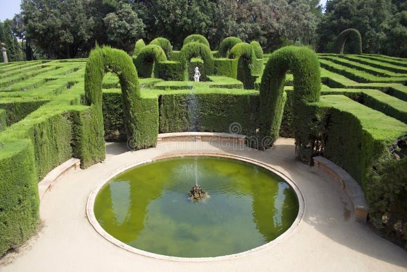 Spuiten in labyrint royalty-vrije stock afbeeldingen