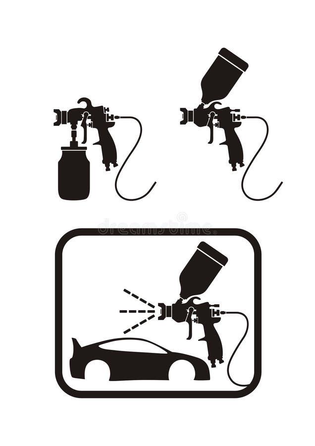 Spuitpistool royalty-vrije illustratie