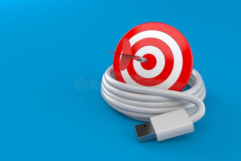 Spule von USB-Kabel mit Bullauge vektor abbildung