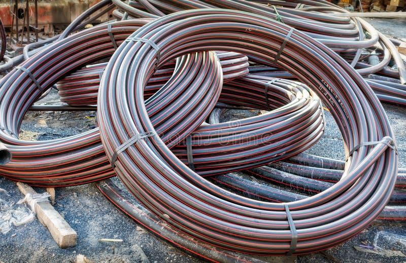 Spulen von industriellen Kabel-Hochleistungsisolatoren des Grad-50mm stockfoto
