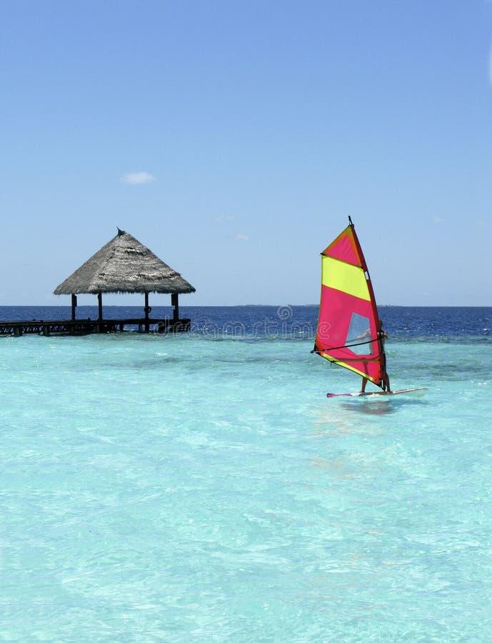 Spuma ai Maldives fotografia stock