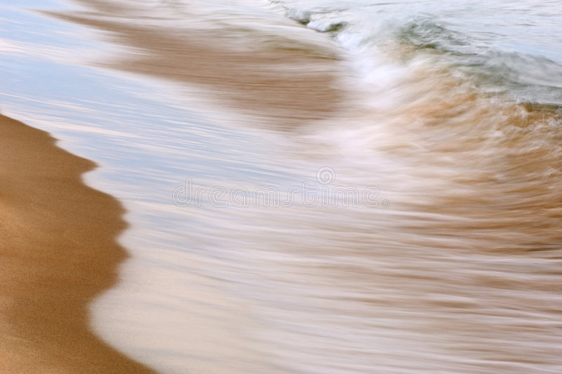 Spuma di Michigan di lago fotografia stock libera da diritti