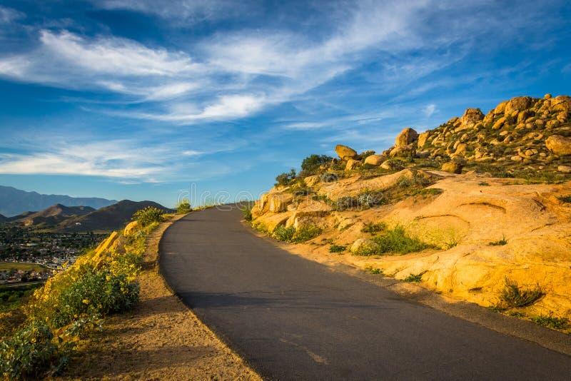Spur an Berg Rubidoux-Park, im Flussufer, Kalifornien lizenzfreie stockfotos