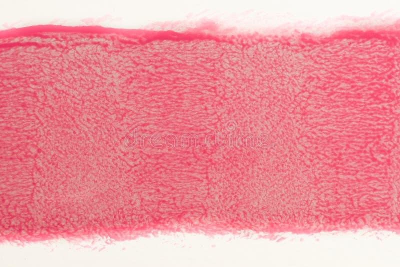 Spur der roten Farbe von der Rolle für das Malen auf Wand Reparieren Sie Konzept lizenzfreie stockfotos