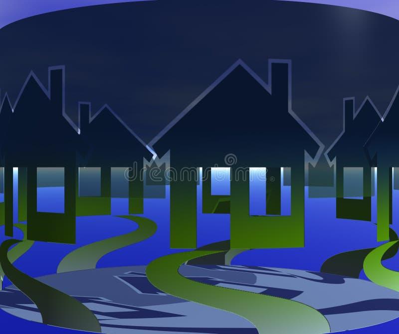 Spur-Häuser lizenzfreie abbildung