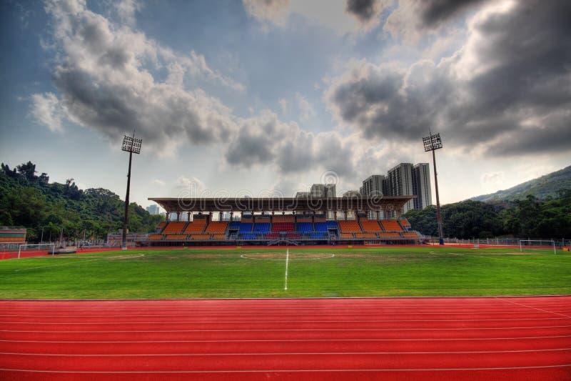 Spur-Wege und Stadion lizenzfreie stockfotos