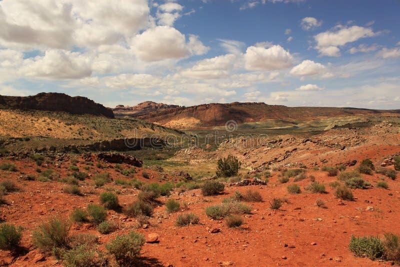 Spur zum empfindlichen Bogen. Bögen Nationalpark, Utah, USA lizenzfreies stockbild