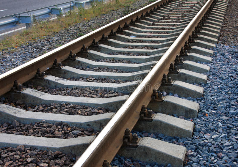 Download Spuren stockfoto. Bild von gleichheit, angekoppelt, eisenbahn - 12201398