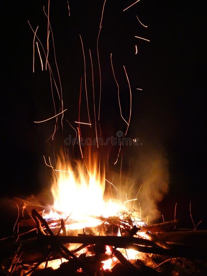 Spuren des Feuers stockfotos
