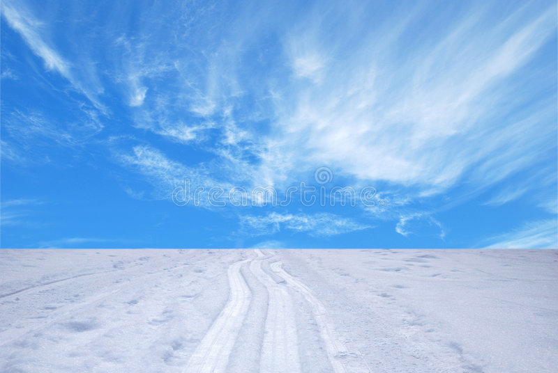 Spuren des Skis stockfotografie