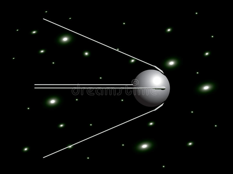 sputnik vektor illustrationer