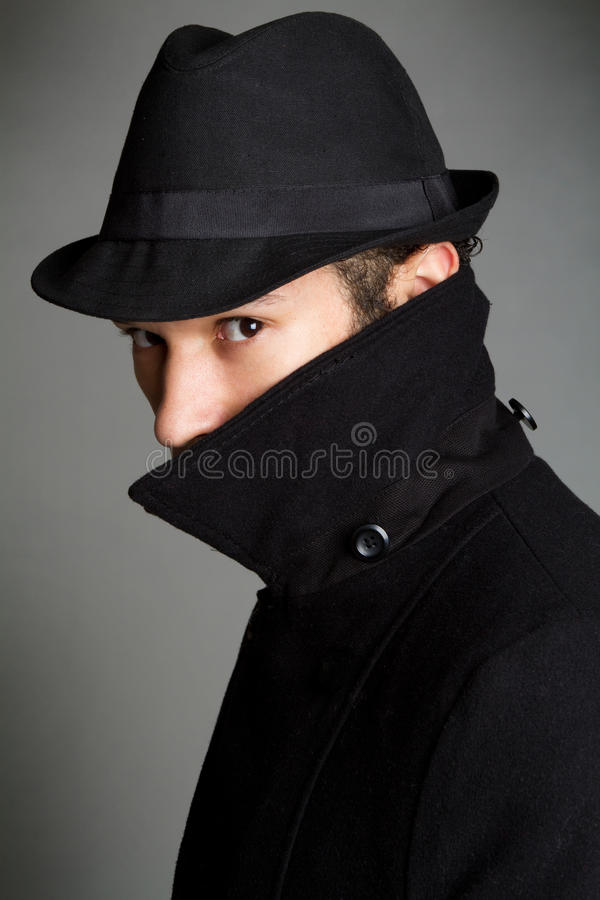Download Spy stock image. Image of people, coat, covered, cunning - 13307655
