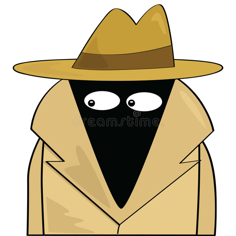 Download Spy stock vector. Image of stealth, cartoon, crime, investigator - 15218366