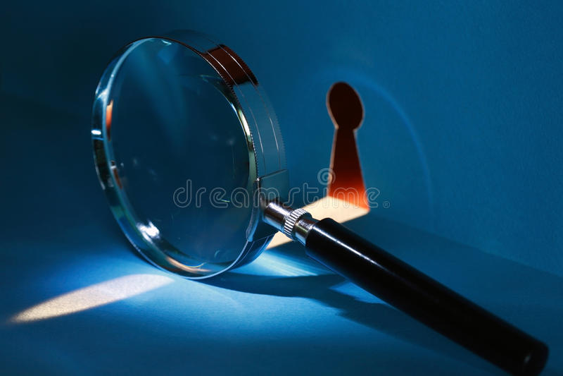 Spy Through Keyhole royalty free stock photo