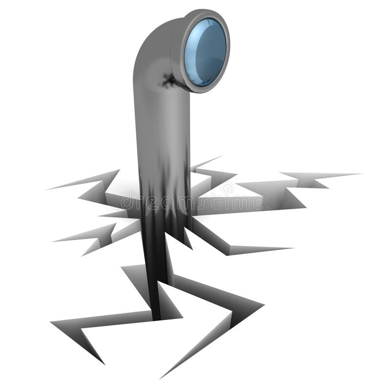 Spy Periscope From Crack Hole Stock Images