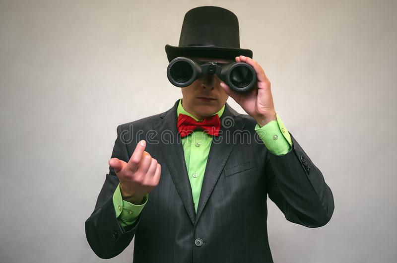 The spy. Secret service. Detecive agent. royalty free stock photos