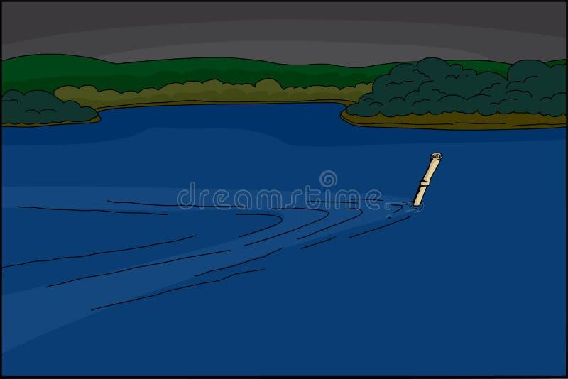 Spy Swimming Underwater royalty free illustration