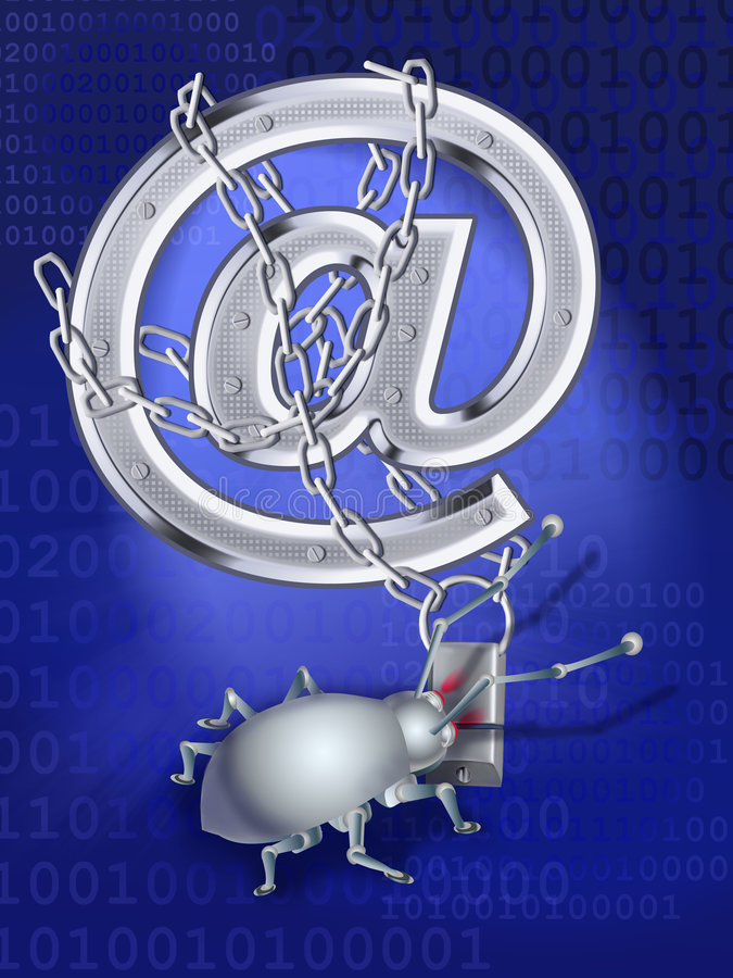 Download A Spy Virus Breaks Up E-mail Stock Photo - Image: 7855010