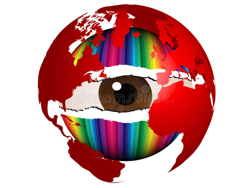 Download Spy the world stock vector. Image of pupil, curiosity - 9806525