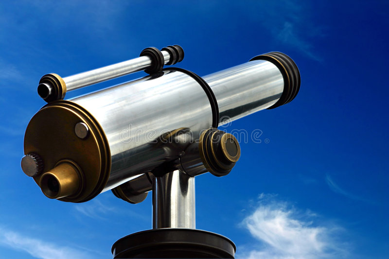 Spyglass im Himmel lizenzfreies stockbild