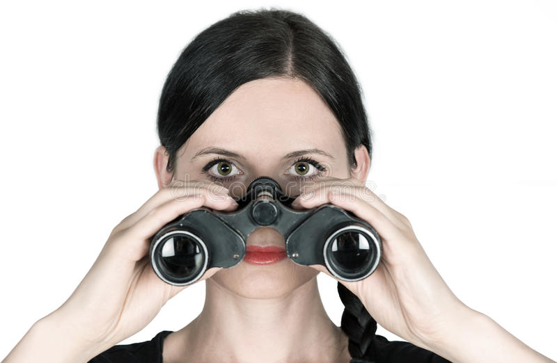 Download Spyglass stock image. Image of dating, spyglass, eyes - 32669425