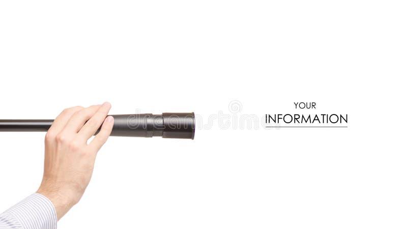 Spyglass w ręka wzorze zdjęcie stock