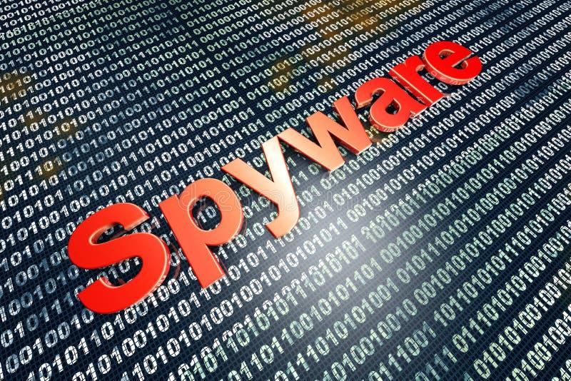 Spyware vektor illustrationer