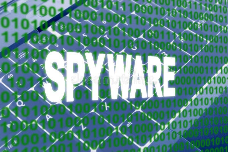 Spyware Text Over Binary Code Stock Photos