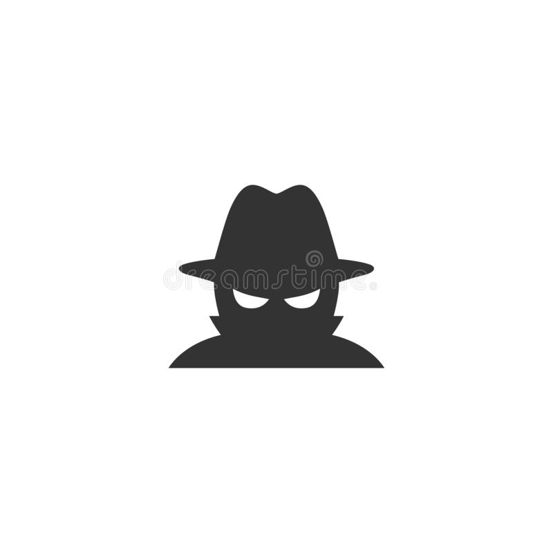 Spywaresymbol i enkel design ocks? vektor f?r coreldrawillustration stock illustrationer