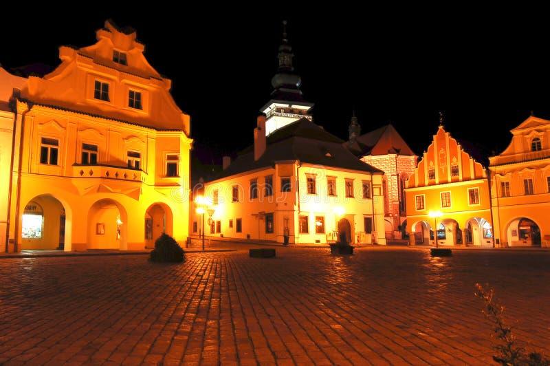Sqare van de kleine stad stock fotografie