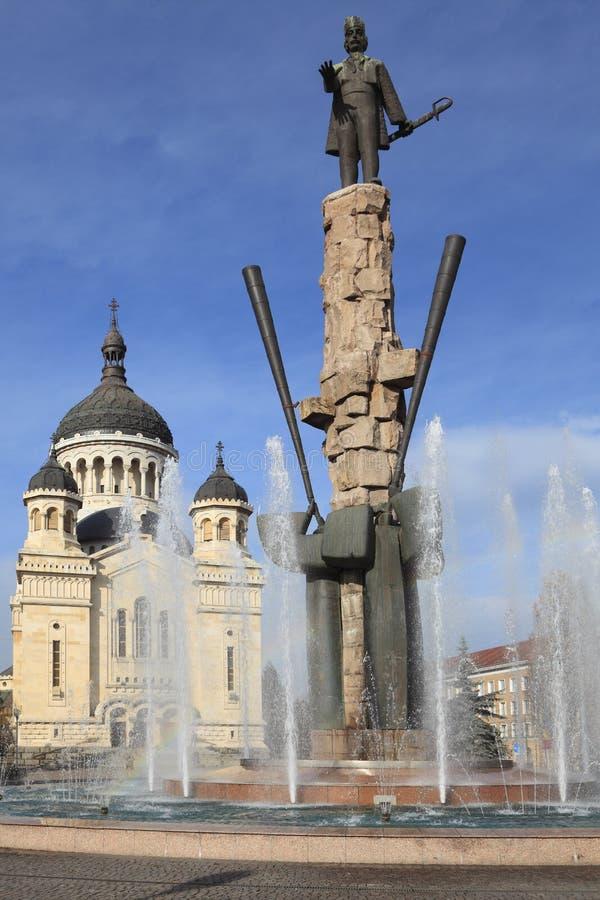 sqaure Румынии napoca iancu cluj avram стоковые фотографии rf