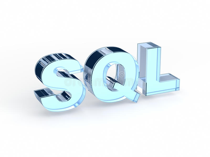 Sql-Akronym strukturierte Abfragesprache lizenzfreie stockbilder