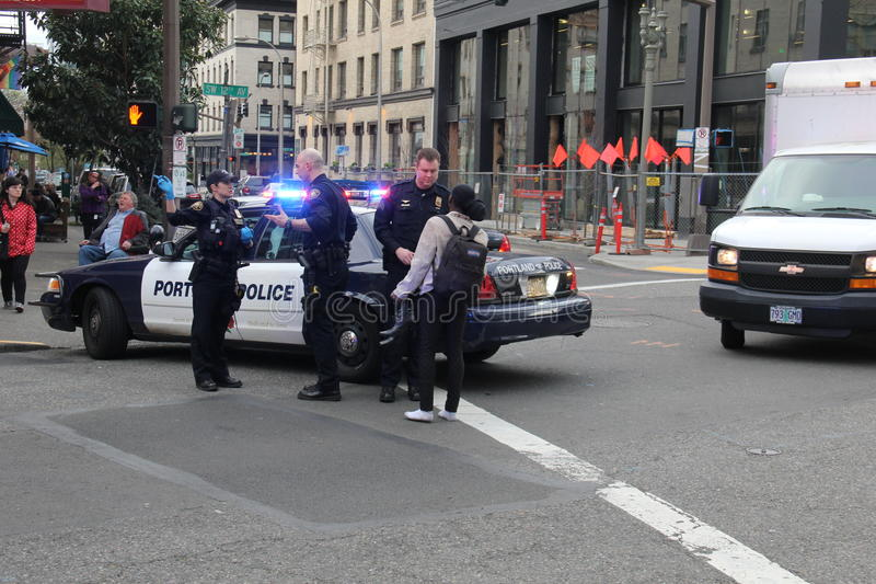 Squad car. Portland police squad car of Portland Oregon royalty free stock image