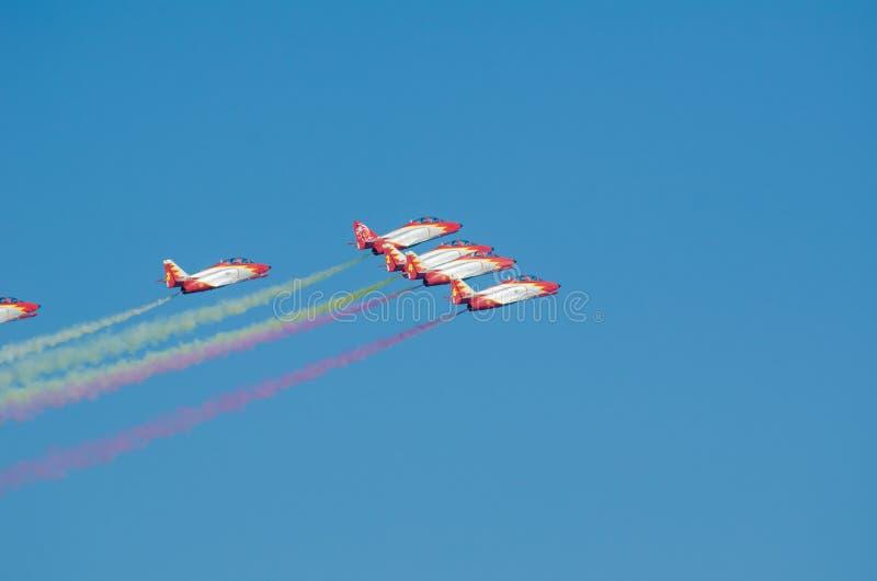 Squadra acrobatica di Patrulla Aguila fotografia stock
