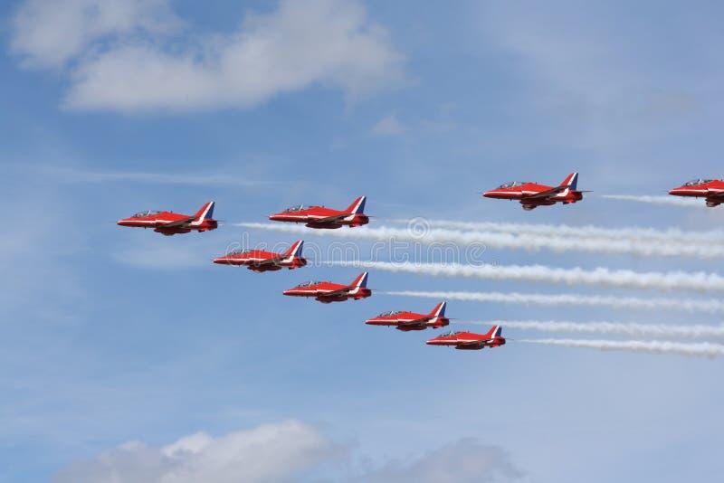 Squadra Aerobatic. immagini stock libere da diritti