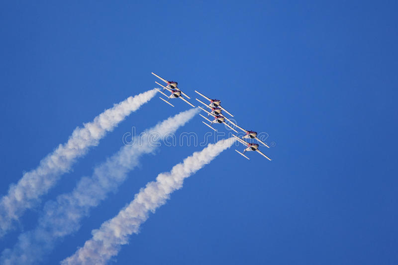 Squadra aerobatic del jet fotografia stock